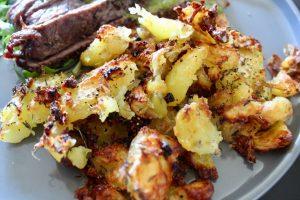 Chimichurri Steak and Crispy Smashed Potatoes