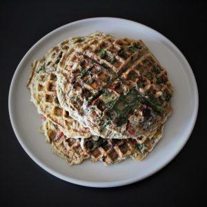 Veggie Omelette Waffle