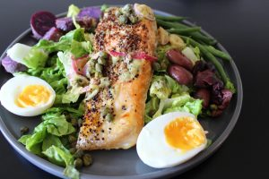 Visualization and Visually Appealing Salmon Nicoise Salad