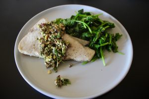 Nagging Tasks and Whole30 Swordfish with Pistachio Gremolata