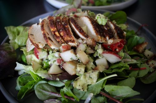 Balance is not key - Whole30 Stone Fruit and Blackened Chicken Salad
