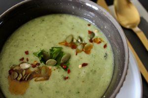 Plan it in, do it anyway - Whole30 Green Gazpacho
