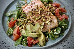 September Studio Whole30 - Whole30 Salmon Summer Salad