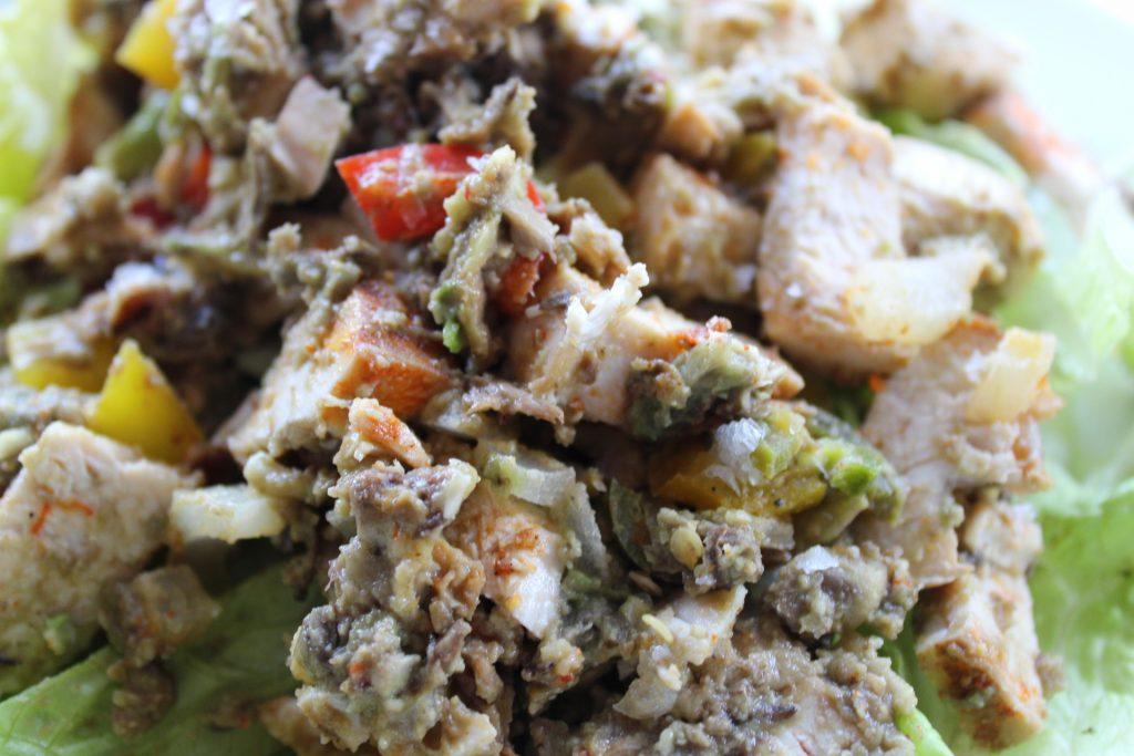 Seasons of Stress - Whole30 Fajita Chicken Protein Salad