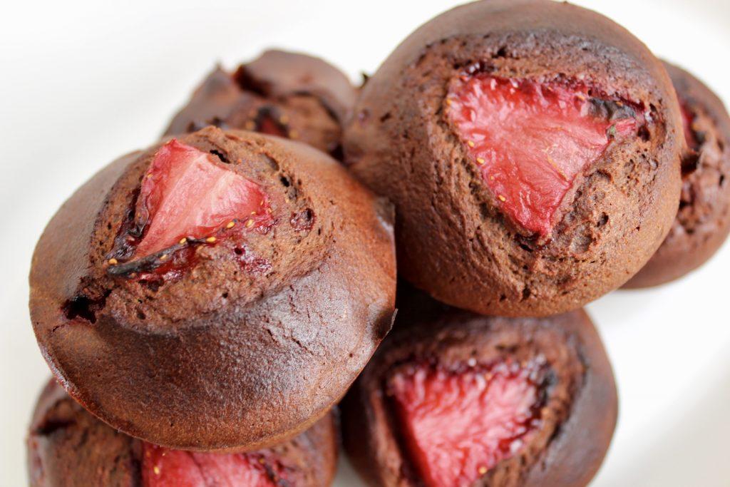 Temporal Landmarks - Paleo Chocolate Strawberry Cupcakes
