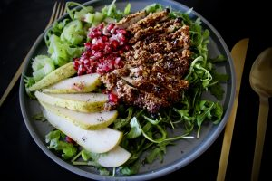 Future Discounting - Whole30 Pistachio Chicken and Winter Fruit Salad