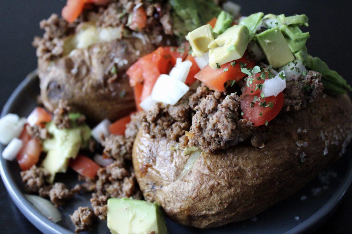 Whole30 Taco Stuffed Potatoes